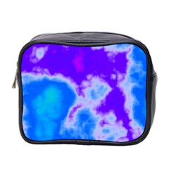 Purple And Blue Clouds Mini Toiletries Bag 2-Side