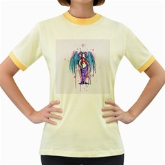 Dirty Wings Women s Fitted Ringer T-Shirts