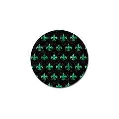 Royal1 Black Marble & Green Marble (r) Golf Ball Marker (4 Pack)