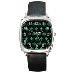 RYL1 BK-GR MARBLE (R) Square Metal Watch