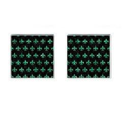Royal1 Black Marble & Green Marble (r) Cufflinks (square)