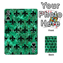 Royal1 Black Marble & Green Marble Playing Cards 54 Designs
