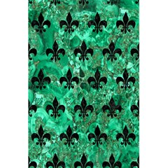 Royal1 Black Marble & Green Marble 5 5  X 8 5  Notebook