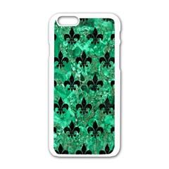 RYL1 BK-GR MARBLE Apple iPhone 6/6S White Enamel Case