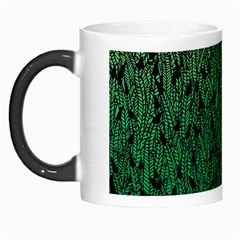 Green Ombre feather pattern, black, Morph Mug