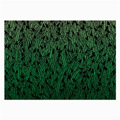 Green Ombre feather pattern, black, Large Glasses Cloth
