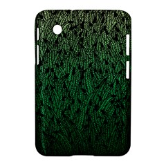 Green Ombre feather pattern, black, Samsung Galaxy Tab 2 (7 ) P3100 Hardshell Case