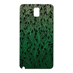 Green Ombre feather pattern, black, Samsung Galaxy Note 3 N9005 Hardshell Back Case