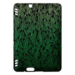 Green Ombre feather pattern, black, Kindle Fire HDX Hardshell Case