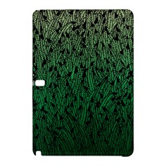 Green Ombre feather pattern, black, Samsung Galaxy Tab Pro 12.2 Hardshell Case