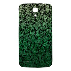 Green Ombre feather pattern, black, Samsung Galaxy Mega I9200 Hardshell Back Case