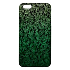 Green Ombre feather pattern, black, iPhone 6 Plus/6S Plus TPU Case