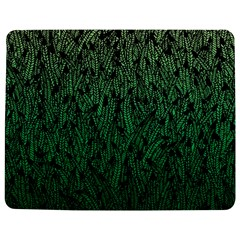 Green Ombre feather pattern, black, Jigsaw Puzzle Photo Stand (Rectangular)