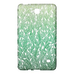 Green Ombre feather pattern, white, Samsung Galaxy Tab 4 (7 ) Hardshell Case