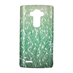 Green Ombre feather pattern, white, LG G4 Hardshell Case
