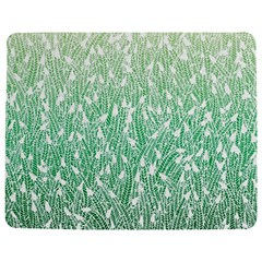 Green Ombre feather pattern, white, Jigsaw Puzzle Photo Stand (Rectangular)