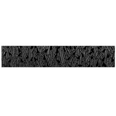Grey Ombre Feather Pattern, Black, Flano Scarf (large)