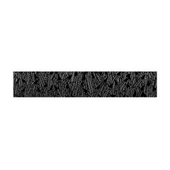 Grey Ombre Feather Pattern, Black, Flano Scarf (Mini)