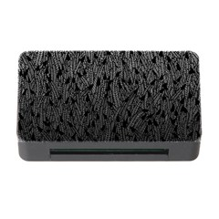 Grey Ombre feather pattern, black, Memory Card Reader with CF
