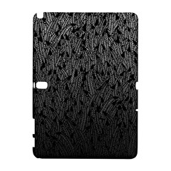 Grey Ombre feather pattern, black, Samsung Galaxy Note 10.1 (P600) Hardshell Case