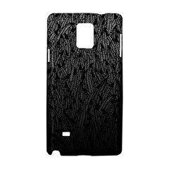 Grey Ombre feather pattern, black, Samsung Galaxy Note 4 Hardshell Case
