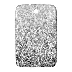 Grey Ombre feather pattern, white, Samsung Galaxy Note 8.0 N5100 Hardshell Case