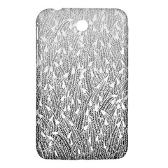 Grey Ombre feather pattern, white, Samsung Galaxy Tab 3 (7 ) P3200 Hardshell Case