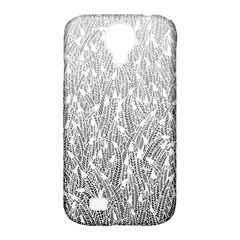 Grey Ombre feather pattern, white, Samsung Galaxy S4 Classic Hardshell Case (PC+Silicone)