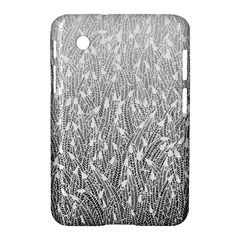 Grey Ombre feather pattern, white, Samsung Galaxy Tab 2 (7 ) P3100 Hardshell Case