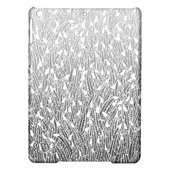 Grey Ombre feather pattern, white, Apple iPad Air Hardshell Case
