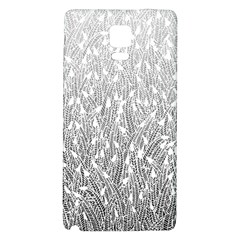 Grey Ombre feather pattern, white, Samsung Note 4 Hardshell Back Case