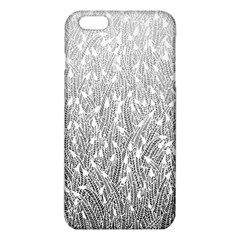 Grey Ombre feather pattern, white, iPhone 6 Plus/6S Plus TPU Case