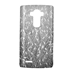 Grey Ombre Feather Pattern, White, Lg G4 Hardshell Case