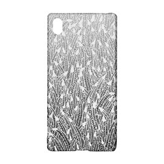 Grey Ombre Feather Pattern, White, Sony Xperia Z3+ Hardshell Case