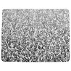 Grey Ombre feather pattern, white, Jigsaw Puzzle Photo Stand (Rectangular)