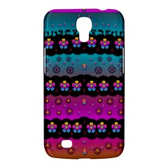Rainbow  Big Flowers In Peace For Love And Freedom Samsung Galaxy Mega 6 3  I9200 Hardshell Case