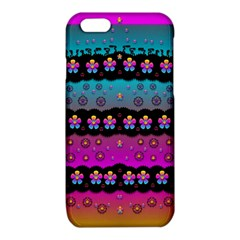 Rainbow  Big Flowers In Peace For Love And Freedom iPhone 6/6S TPU Case