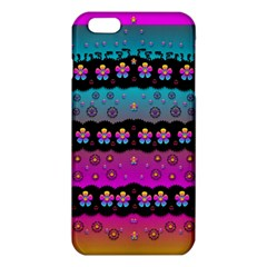 Rainbow  Big Flowers In Peace For Love And Freedom Iphone 6 Plus/6s Plus Tpu Case