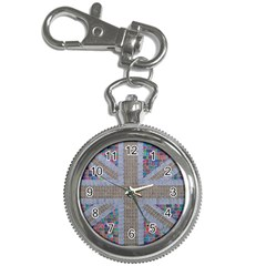 Multicoloured Union Jack Key Chain Watches