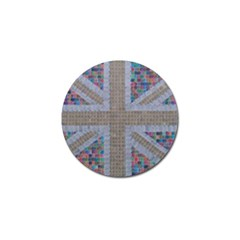 Multicoloured Union Jack Golf Ball Marker (10 pack)
