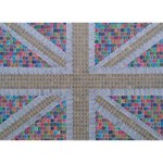 Multicoloured Union Jack YOU ARE INVITED 3D Greeting Card (7x5)  Front