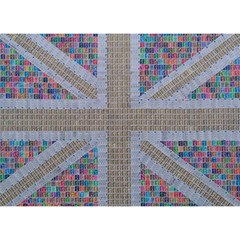 Multicoloured Union Jack Birthday Cake 3D Greeting Card (7x5)