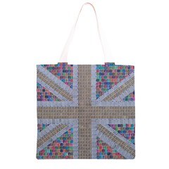 Multicoloured Union Jack Grocery Light Tote Bag
