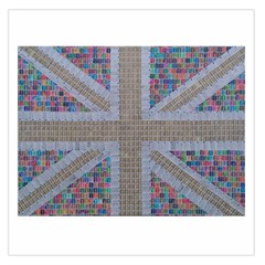 Multicoloured Union Jack Large Satin Scarf (Square)