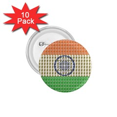 Indian Flag 1.75  Buttons (10 pack)