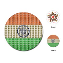 Indian Flag Playing Cards (Round)