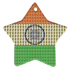 Indian Flag Star Ornament (Two Sides)