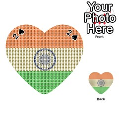 Indian Flag Playing Cards 54 (Heart)