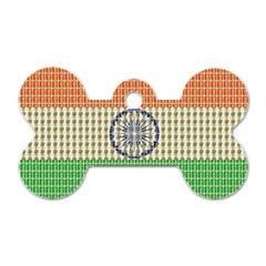 Indian Flag Dog Tag Bone (One Side)