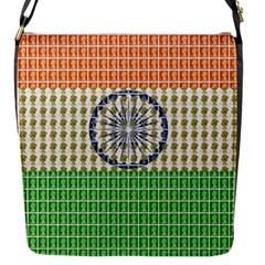 Indian Flag Flap Messenger Bag (S)